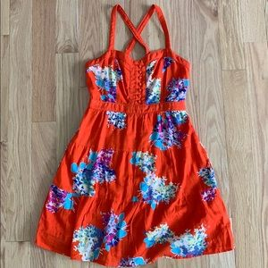 AE Orange Floral Dress